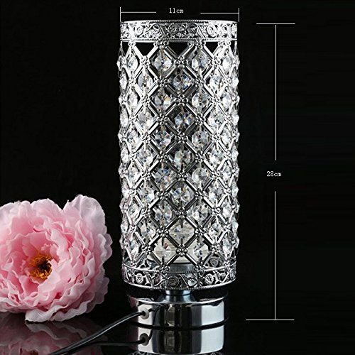awesome Crystal Silver Table Lamp