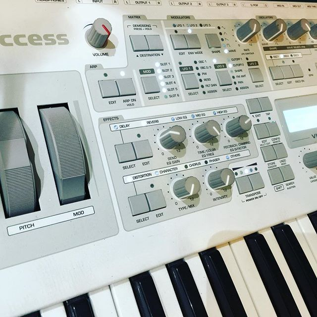 The Access Virus in action today... Fat sounds pumping! #accessvirus #synth #keyboard #music #sound #design #vintage #keys