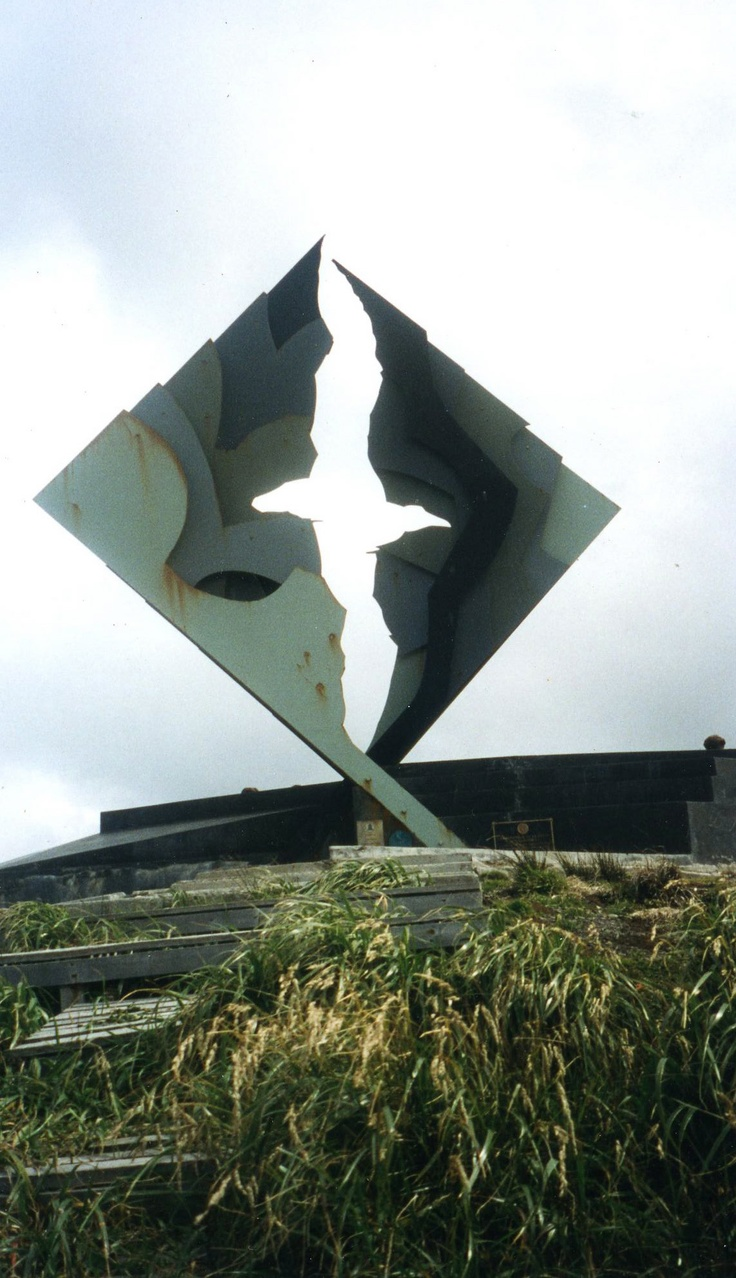 Monument at the foot of Cape Horn, Chile, 750 miles from Antarctica