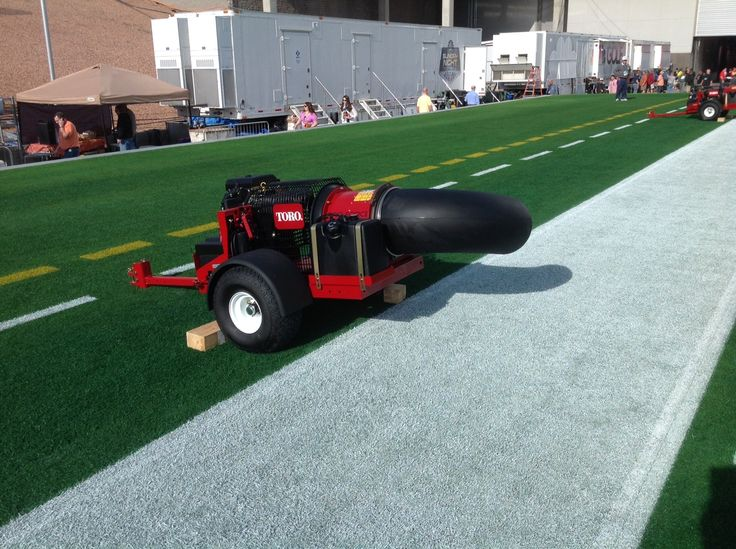 Toro Pro Force debris blowers drying the paint before