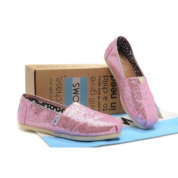 Pink Womens Glitter Classics