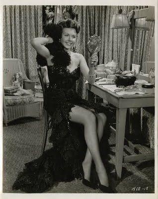 vintage hollywood   Ann Miller sitting at a vintage Hollywood vanity