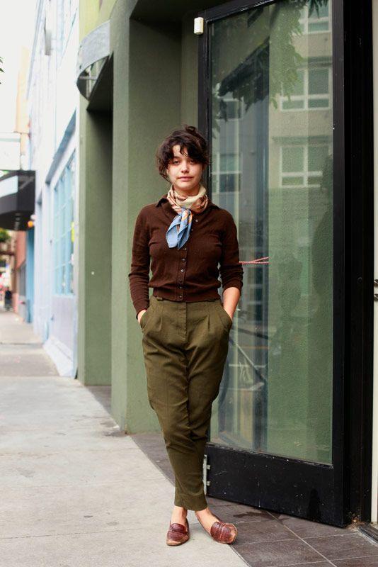 """Kind of equestrian. I come from a horse family, so I kind of dress like my grandma."" Taj - Valencia Street, SF"