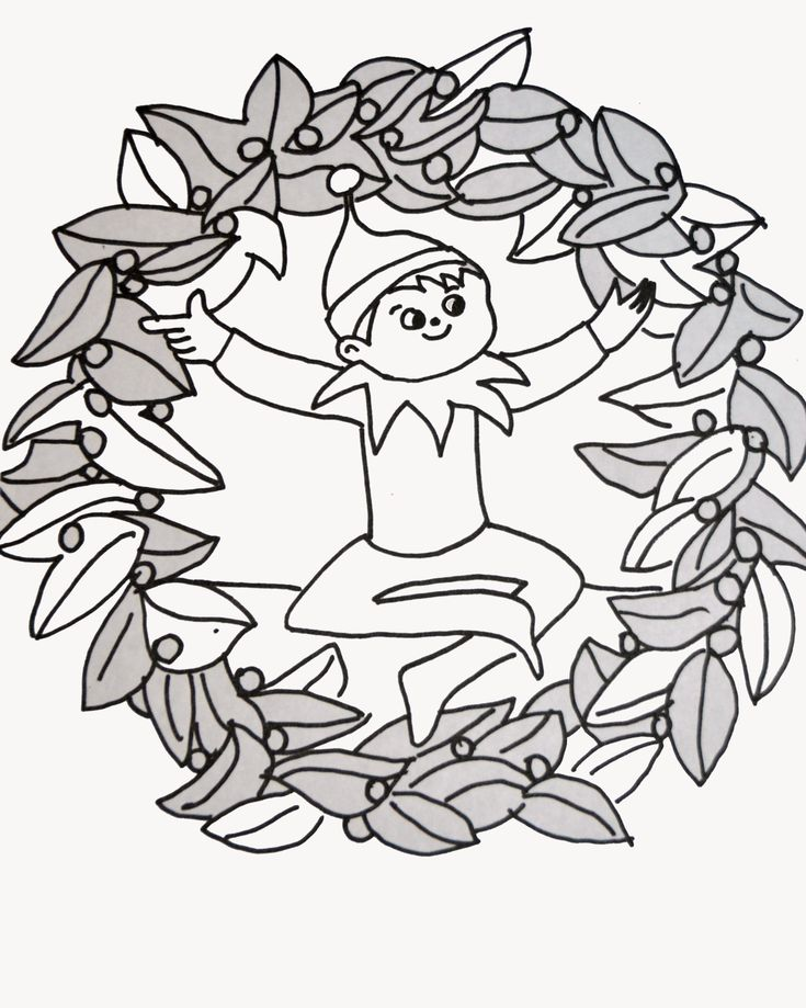 Elf On The Shelf Coloring Page Elf On The Shelf On The Shelf Coloring Page