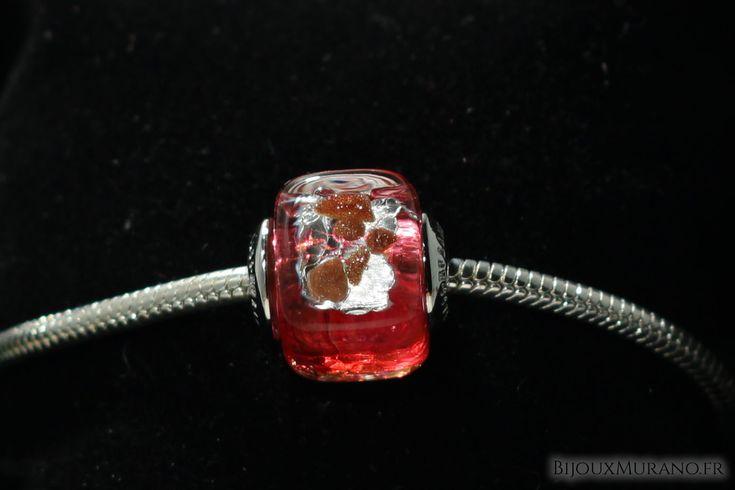 Perle Carrée Rose Or Et Argent : Confectionnez vos propres bijoux grâce à notre collection de charms #BijouxMurano #Murano #Perle #Charm - BijouxMurano.fr
