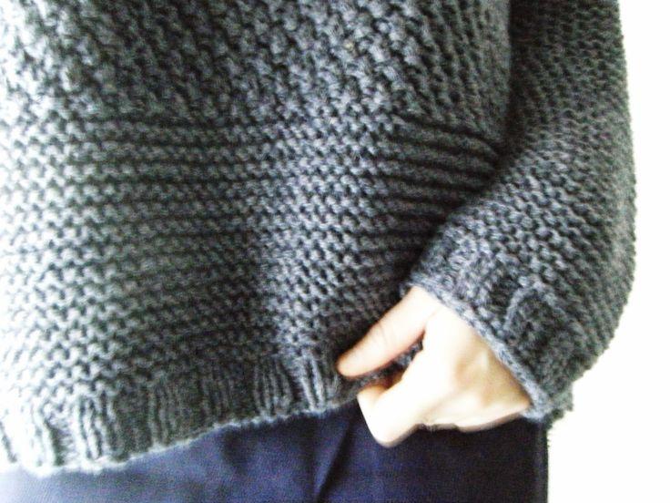 La souris aux petits doigts: Purple : le gros pull texturé qui fait son p'tit effet (tuto)