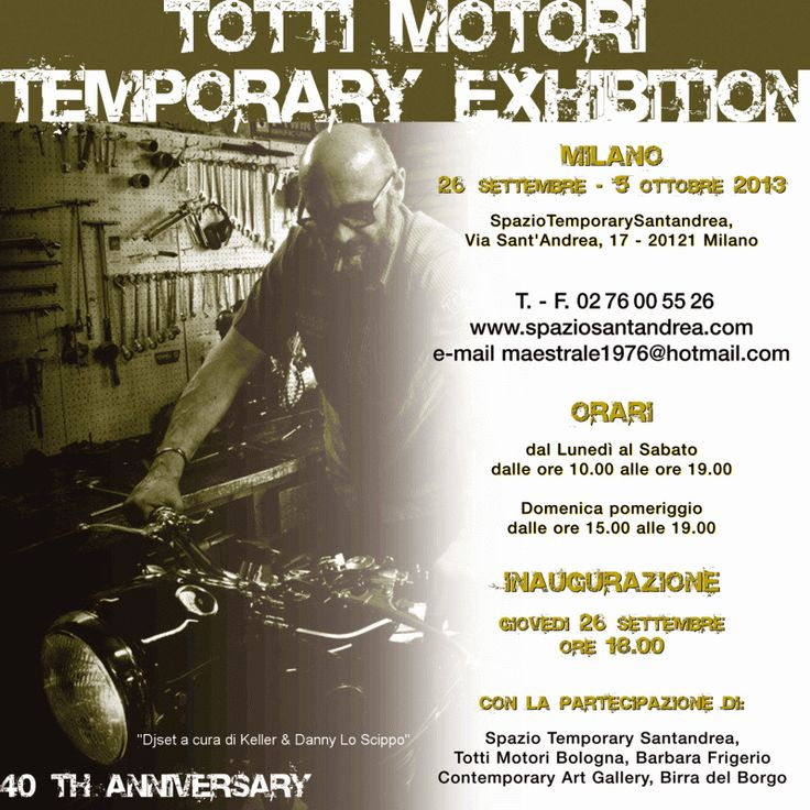 ***www.kustomgarage.it - Kustom Kulture Online Magazine***  Totti Motori Temporary Exhibition 40th Anniversary  Leggi tutto: http://www.kustomgarage.it/press-room/eventi-e-manifestazioni/totti-motori-temporary-exhibition-40th-anniversary.html#axzz2e1yKOtl3