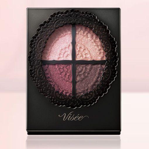 Kose Japan VISEE Glossy Rich Eyes 4-Color Eyeshadow Palette