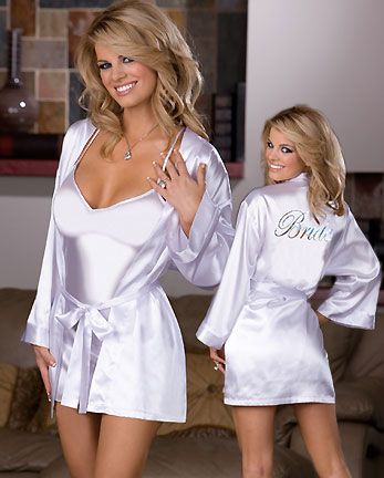 Bridal Robe Set - Want for the honeymoon :)