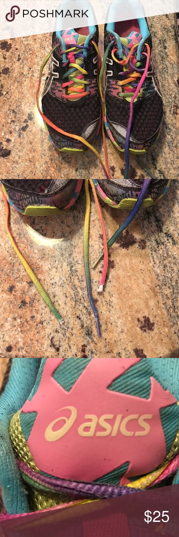 Asics sneakers Womens Asics Gel Noosa Tri 8 Paint Splatter Athletic Shoes T3...   style: Active. Size width: medium. Have been worn a good amount! Asics Shoes Sneakers