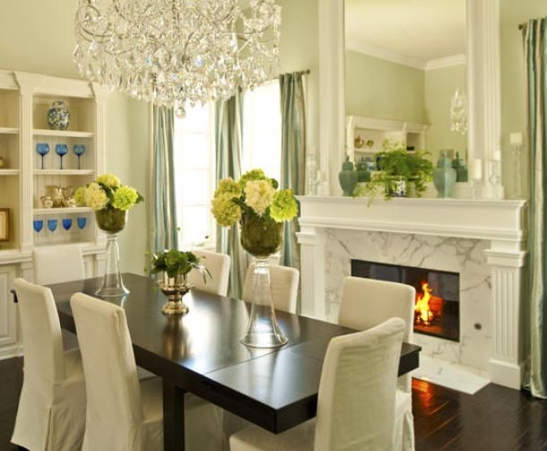 Nice Green Dining Room Part 94