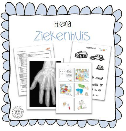 Kaarten voor in de ziekenhuishoek | Thema 112 ZIEKENHUIS