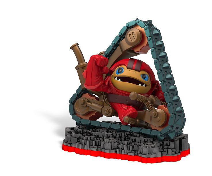 Skylanders Trap Team: Tread Head Character Pack 1 Single Toy 1 Trading Card  1 QR Code and Sticker This Skylanders Trap Team figure requires the  Traptanium ...