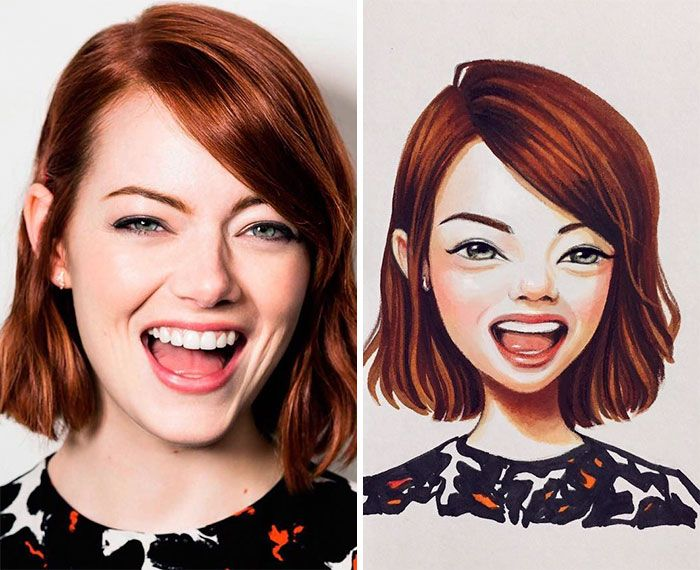 Lera Kiryakova is a Russian artist, who is known for cute celebrity portraits. She creates hand-drawn cartoons in a kind of puppet style, which not only affects the similarity but also adds adorableness. Look - you might like it!