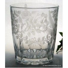 The Union engraving on this example is of the highest order. Scottish thistles, English roses and the Shamrocks of Ireland were engraved on glasses to celebrate the Union with Ireland in in 1801.The thistle flowers exemplify the attention to detail and overall quality, they have been cut, polished and over-scored. http://www.scottishantiquesinc.co.uk/georgian-glass/tankard-tumbler