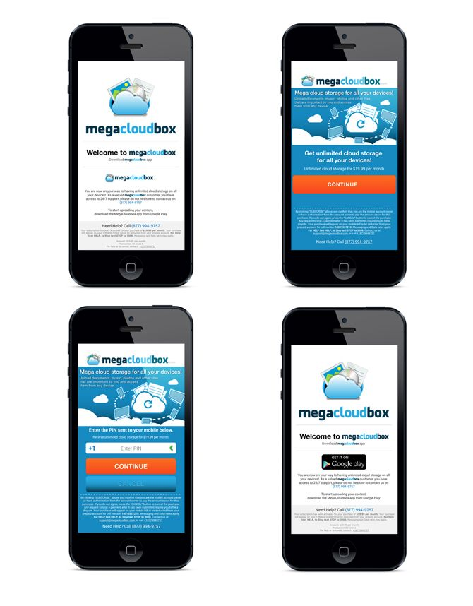 megacloudbox iPhone interface