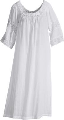 Peasant-Style Nightgown From April Cornell: So Light and Airy, It's Fit For a Queen