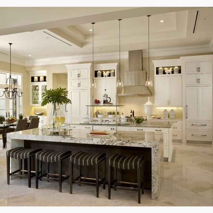 Kitchen Waterfall Island: 71 Best Classic Kitchens Images On Pinterest