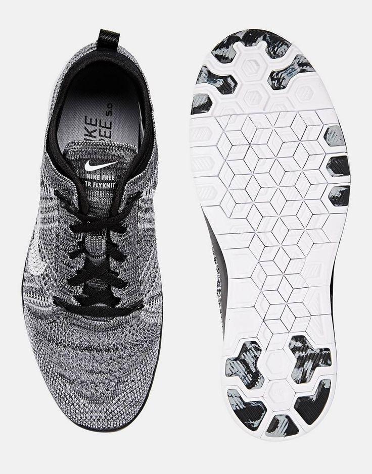 Nike Free TR Flyknit Black White & Grey Trainers | Fashion | Pinterest | Grey  trainers and Nike free