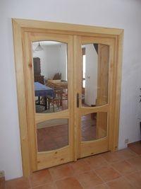 Dvoukřídlé dveře prosklené