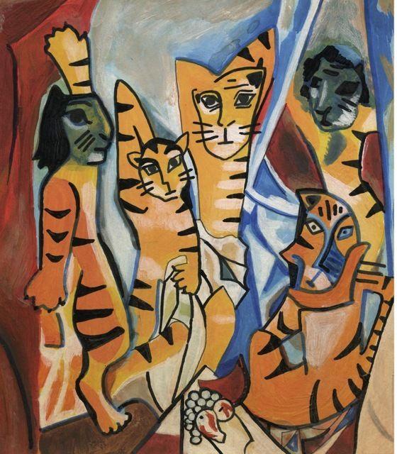 Elli Maanpää - Tigers in Art: Les Tigers D'Avignon 2010
