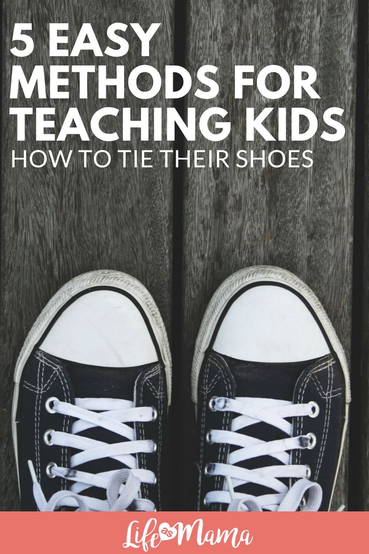 Learning to tie shoe laces can be easy if your kid is ready, but it can be incredibly frustrating too. We've rounded up some of the best resources out there with to help your kiddos learn to tie their shoes in no time! #tieshoes #howtotieyourshoes #tyingshoes