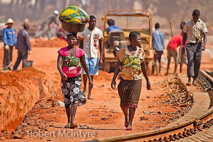 Woman by the train tracks in Luena Angola more at www.imagesbyrob.blogspot.com