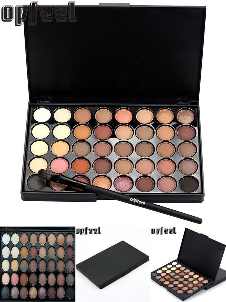 [Visit to Buy] Best Deal New Cosmetic Matte Eyeshadow Eye Shadow Cream Makeup Palette Shimmer Set 40 Color+ Brush Set #Advertisement