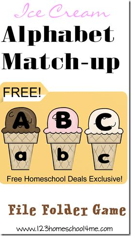 FREE Ice Cream Alphabet Match-up! Help your Preschool or Kindergarten child practice matching upper and lower case letters with this fun summer learning activity! #homeschool #preschool #summer #alphabet