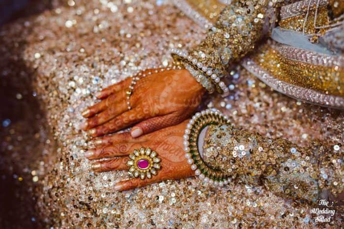 Jewellery - The Mesmerizing Jewellery! Photos, Hindu Culture, Beige Color, Antique Jewellery, Polki Kundan Jewellery, Pearl Jewellery pictures, images, vendor credits - The Wedding Salad.