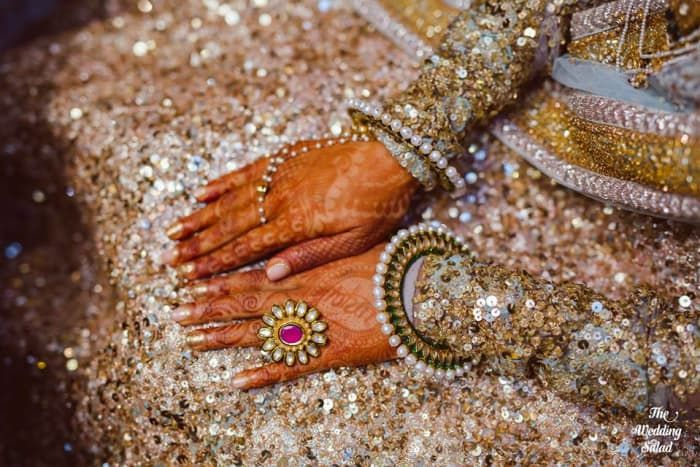 Jewellery - The Mesmerizing Jewellery! Photos, Hindu Culture, Beige Color, Antique Jewellery, Polki Kundan Jewellery, Pearl Jewellery pictures, images, vendor credits - The Wedding Salad.
