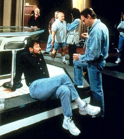 Brent Spiner and Jonathan Frakes in 1998 during the filming of Star Trek: Insurrection