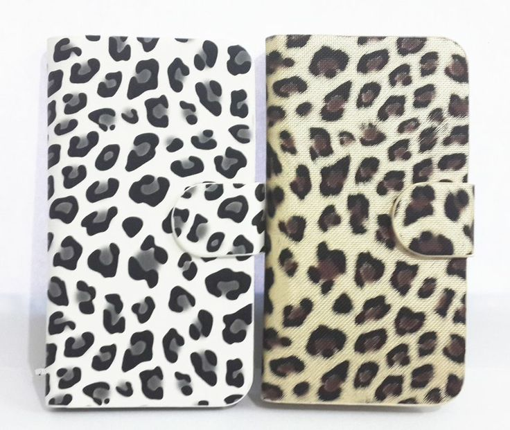 Luxury Leopard Flip Pouch PU Leather Card Wallet Case Cover FOR HTC Phones $11.5