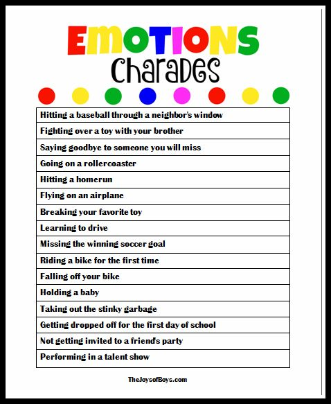 emotional regulation activities for preschoolers emotions charades with inside out school emotions 498