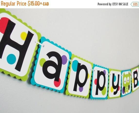 Check out this item in my Etsy shop https://www.etsy.com/ca/listing/485569651/owl-birthday-banner-gender-neutral