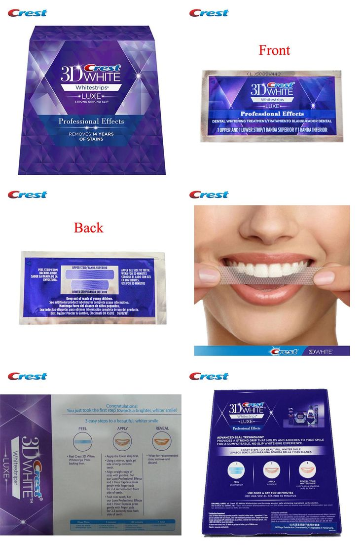 [Visit to Buy] Original Crest Whitestrips Oral Hygiene Crest 3d White Whitestrips Dental Teeth Whitening Product (1Box /40Strips 20 Pouches) #Advertisement