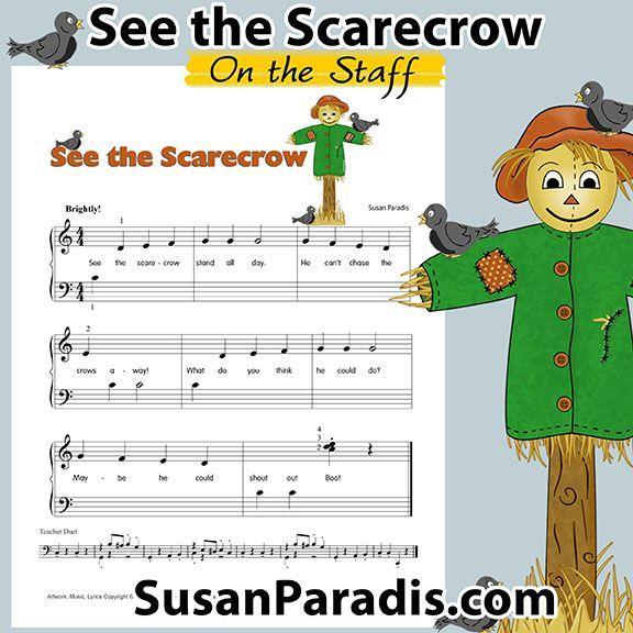 See the Scarecrow | Free Beginning Halloween Music | www.SusanParadis.com
