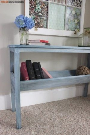 Book Rack Console Table Plans - Rogue Engineer