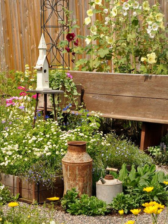 Create a country garden for Flower garden decorations