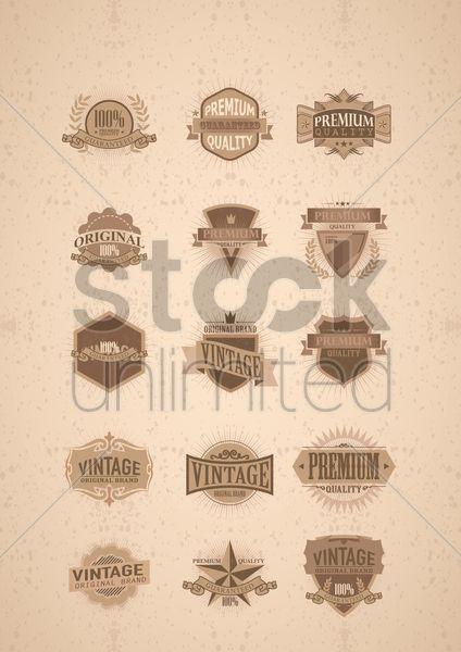 set of vintage labels Stock Vector
