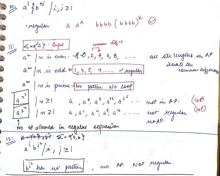 Some examples of regular language