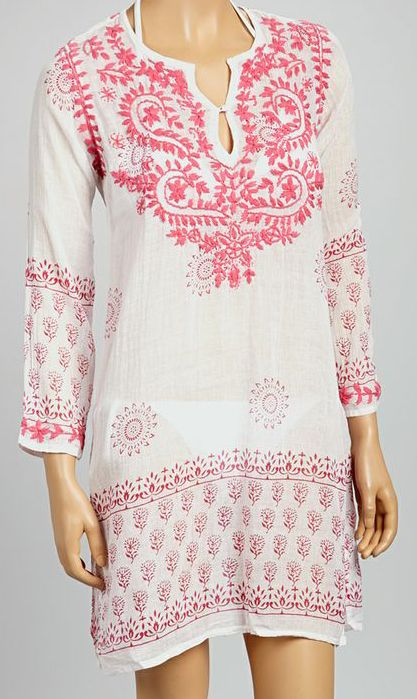 Pink Embroidered St. Tropez Tunic