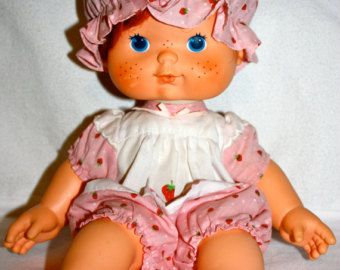 1980s Vintage Strawberry Shortcake Blow Kisses OUTFIT ONLY