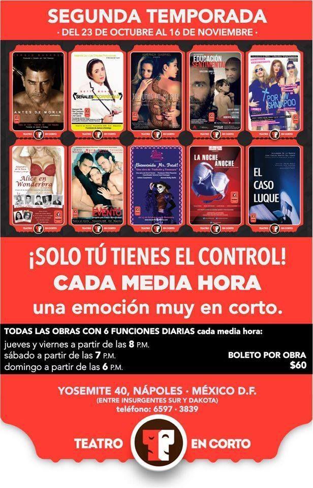 La cartelera de la segunda temporada de Teatro en Corto y La Catrina Mexicana luce así!