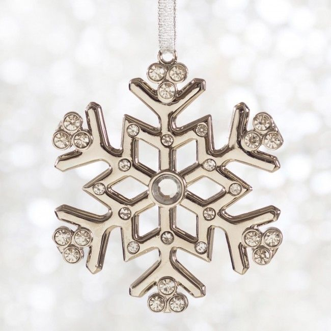 This snowflake won't melt when you hang it on your Christmas tree this holiday season.