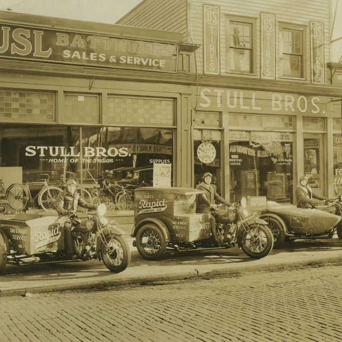 old motorcycles of 30 years  Indian Dealer  Kingston PA