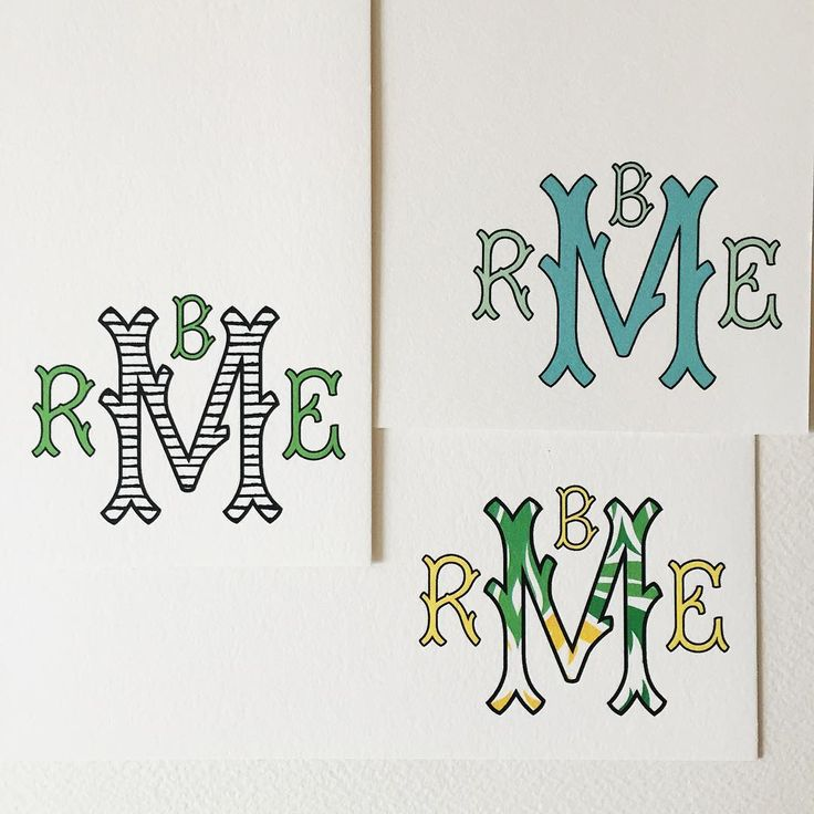Four letter #monograms on this rainy Monday! #stationery #custompaper