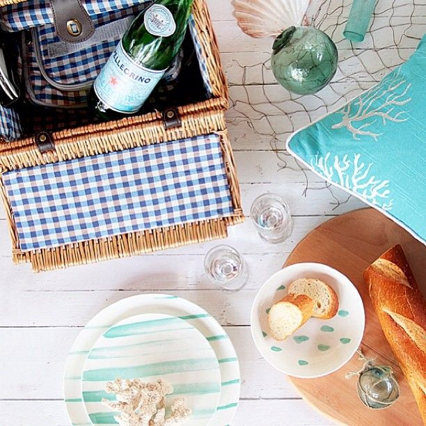 Summer picnic by the sea my kind of style! Feature shot and styled by me for the gorgeous latest edition of @adoremagazine featuring my favourite @whitecoconutstore coral cushion and dinnerware from @freedom_australia #freedom #homeware #shoot #styling #stylist #inspire #interior #picnic #coastal #summer #beach #beachhouse #relax #holiday