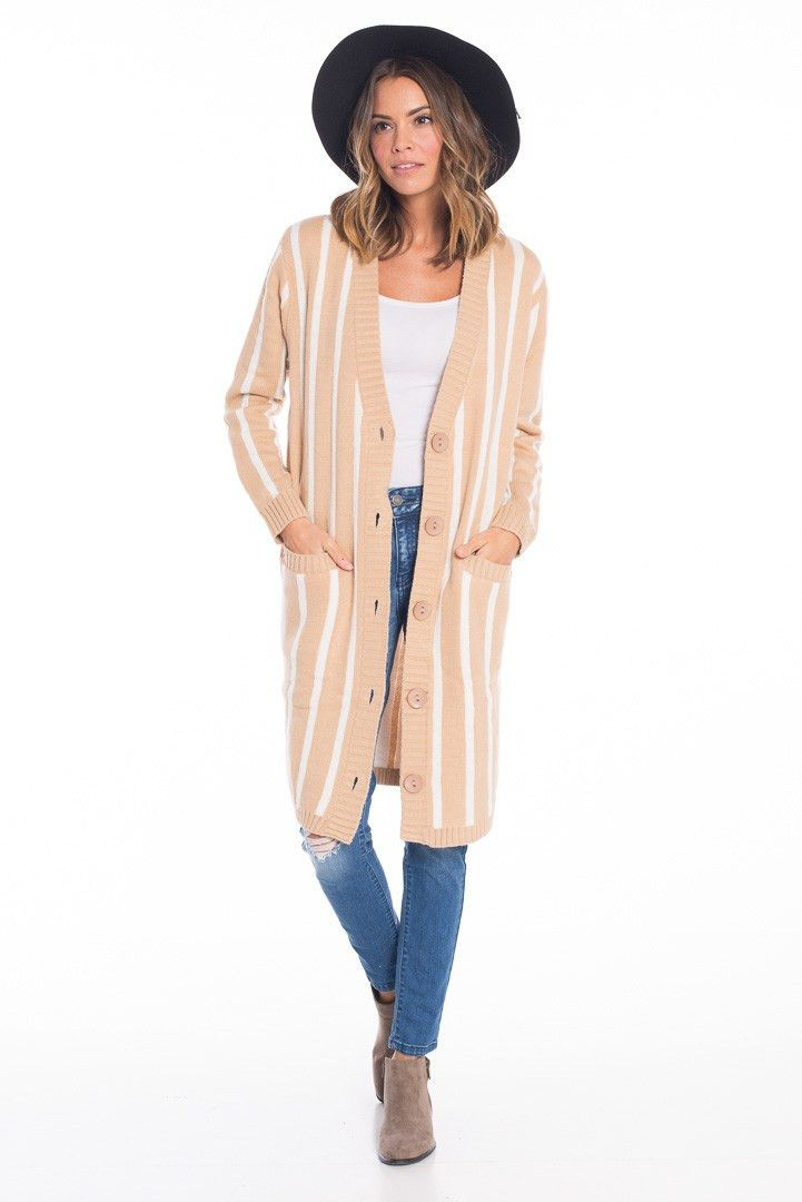 Vivian Vertical Striped Cardigan