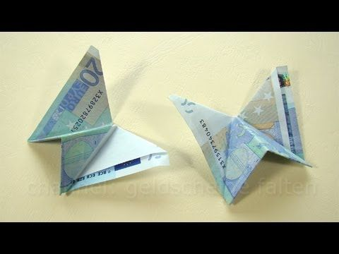 ▶ Geld falten: Schmetterling - Einfaches Geldgeschenk - YouTube